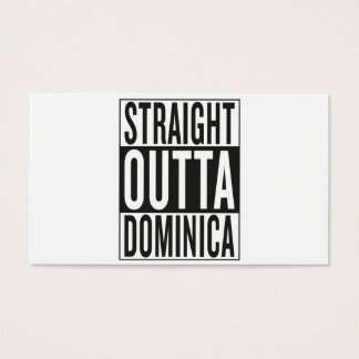 straight outta Dominica Business Card