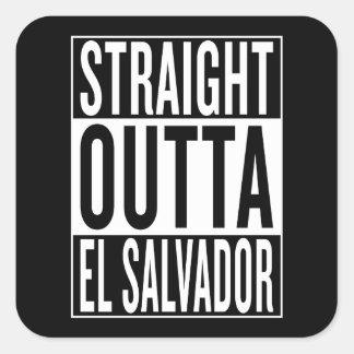 straight outta El Salvador Square Sticker