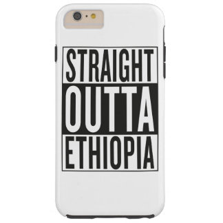 straight outta Ethiopia Tough iPhone 6 Plus Case