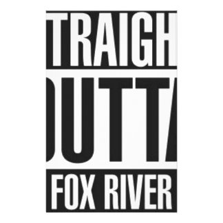 Straight Outta Fox River Stationery