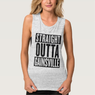 Straight Outta Gainsville Womens Flowy Muscle Tank