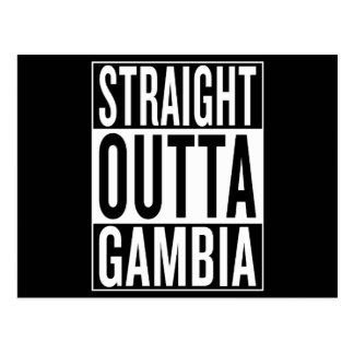 straight outta Gambia Postcard