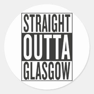 straight outta Glasgow Classic Round Sticker