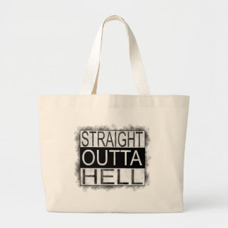 Straight outta HELL Large Tote Bag
