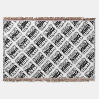 Straight outta HELL Throw Blanket