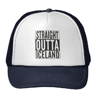 straight outta Iceland Cap