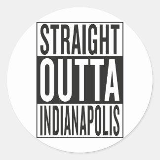 straight outta Indianapolis Classic Round Sticker