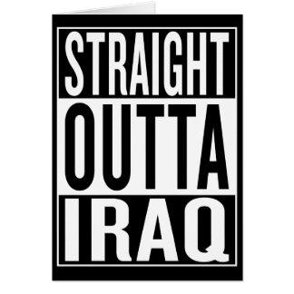 straight outta Iraq Card