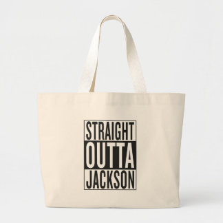 straight outta Jackson Large Tote Bag
