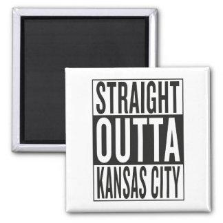 straight outta Kansas City Square Magnet