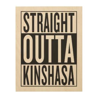 straight outta Kinshasa Wood Prints