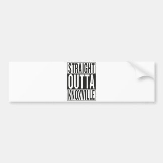 straight outta Knoxville Bumper Sticker