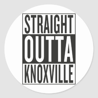 straight outta Knoxville Classic Round Sticker