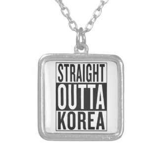 straight outta Korea Silver Plated Necklace