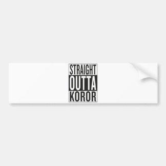 straight outta Koror Bumper Sticker
