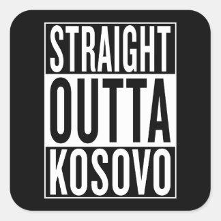 straight outta Kosovo Square Sticker