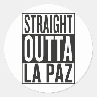 straight outta La Paz Classic Round Sticker
