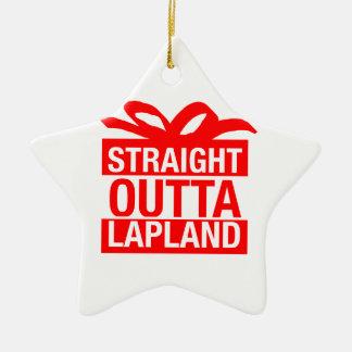 Straight Outta Lapland Ceramic Ornament