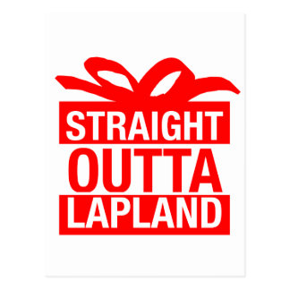 Straight Outta Lapland Postcard
