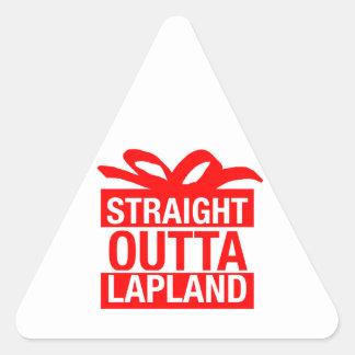 Straight Outta Lapland Triangle Sticker