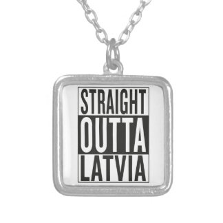 straight outta Latvia Silver Plated Necklace