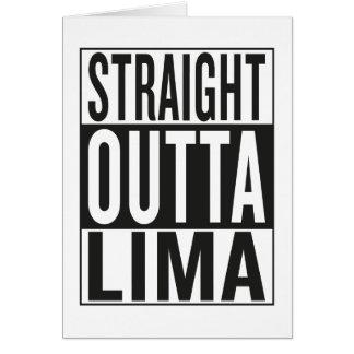 straight outta Lima Card