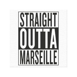 straight outta Marseille Canvas Print