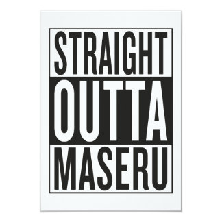 straight outta Maseru Card