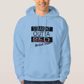 straight outta medical school funny hoodie design