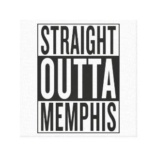 straight outta Memphis Canvas Print