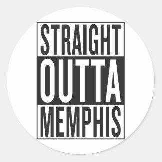 straight outta Memphis Classic Round Sticker