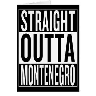 straight outta Montenegro Card