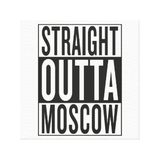 straight outta Moscow Canvas Print