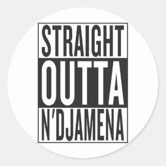 straight outta N'Djamena Classic Round Sticker
