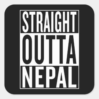 straight outta Nepal Square Sticker