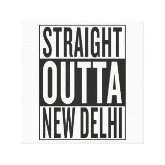straight outta New Delhi Canvas Print