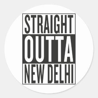 straight outta New Delhi Classic Round Sticker