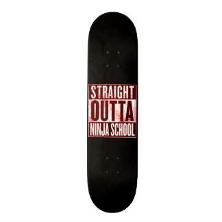 Straight Outta Ninja School Custom Pro Park Board Skate Boards