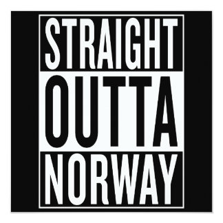 straight outta Norway Card