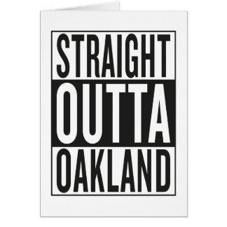 straight outta Oakland Card