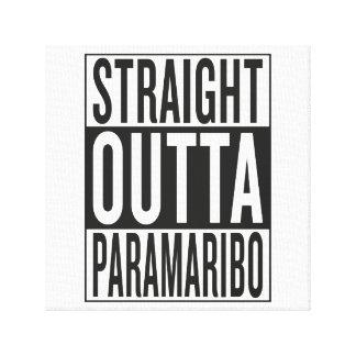 straight outta Paramaribo Canvas Print