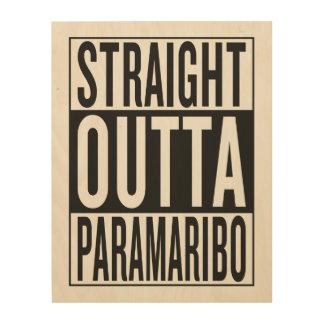 straight outta Paramaribo Wood Print