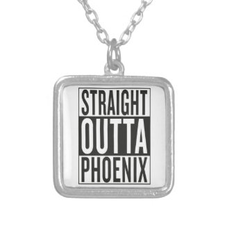 straight outta Phoenix Silver Plated Necklace