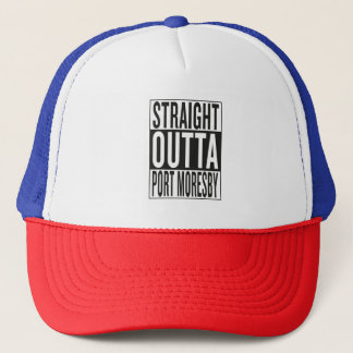 straight outta Port Moresby Trucker Hat