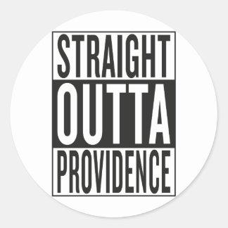 straight outta Providence Round Sticker