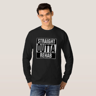 Straight Outta Rehab T-Shirt with grunge effect
