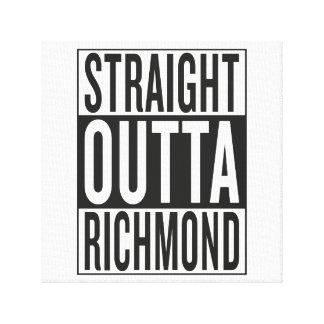 straight outta Richmond Canvas Print