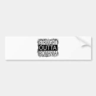 Straight Outta Romania Bumper Sticker