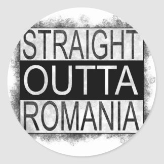 Straight Outta Romania Classic Round Sticker