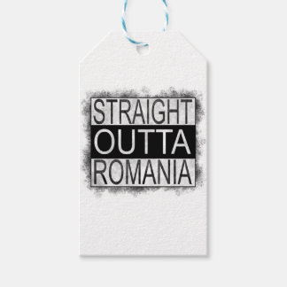 Straight Outta Romania Gift Tags